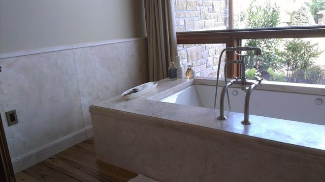 Granite limestone marble ideas for Limestone tub