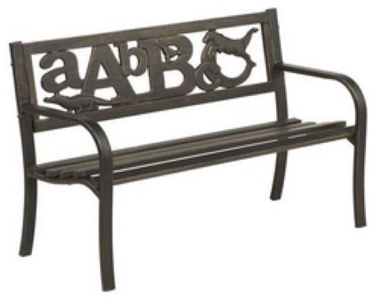 Cast Aluminum Abc Bench Contemporary Outdoor Benches By Bonanza