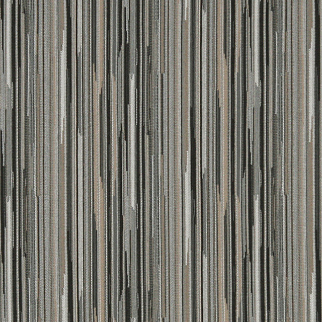 Black Silver And Beige Abstract Striped Contract