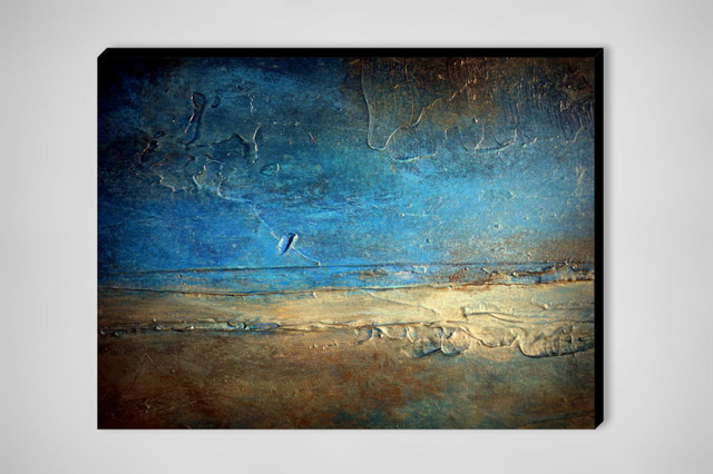 Large Abstract Painting Metal Wall Art Contemporary Print Pier Rustic Prints And