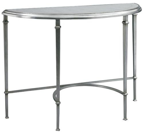 Lillian August Tria Console 1 Aged Silver Traditional Side Tables And End Tables