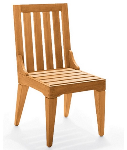 caranas armless chair contemporary outdoor dining