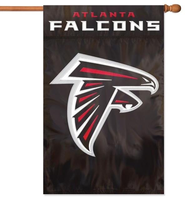 Atlanta Falcons Applique House Flag Traditional Flags