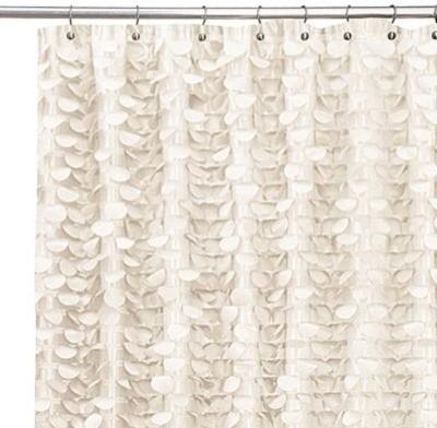 Gigi Ivory 72 Inch X 72 Inch Shower Curtain