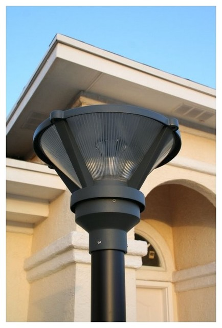 Modern Outdoor Lighting Design: Premium Modern Solar Post Light For 3 Inch Poles And Posts