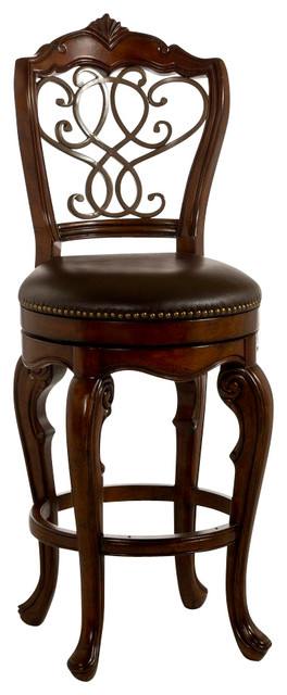Hillsdale Burrell 27 Inch Swivel Counter Stool In Cherry