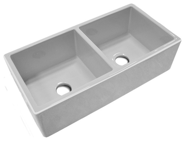 Fireclay Double Bowl Farmhouse Sink : 37