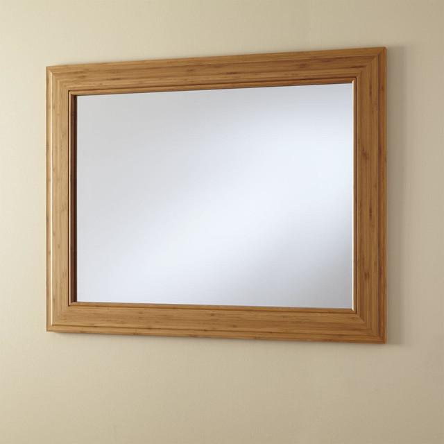 36 horizontal portola bamboo vanity mirror transitional - Large horizontal bathroom mirrors ...