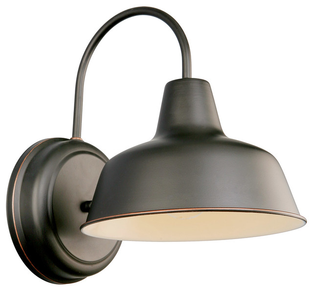 Exterior Wall Lights Industrial : Mason Wall Mount Oil Rubbed Bronze industrial-outdoor-wall-lights-and-sconces