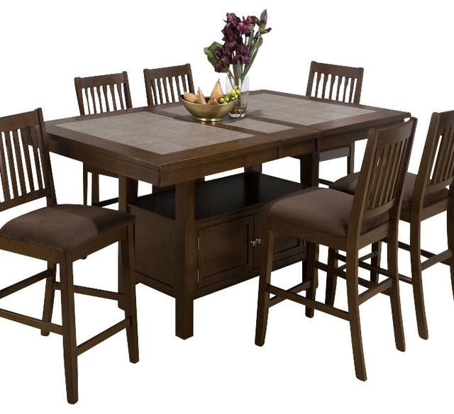 piece butterfly leaf counter height set traditional dining sets