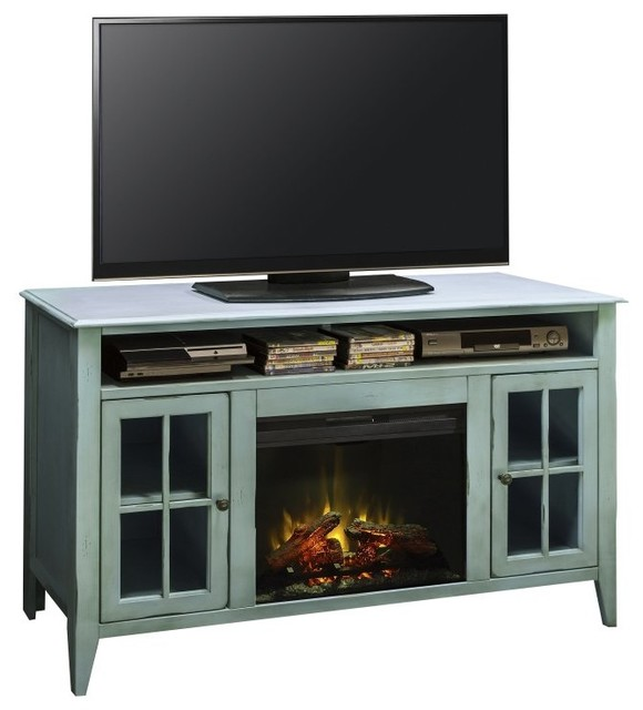 Legends furniture calistoga 60 in electric media for Indoor fireplace kits