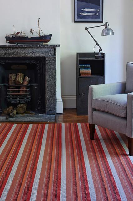 Isis Spice Stripe Flatweave Rug Modern London By