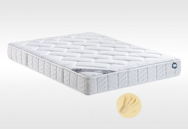 matelas 120 190 cm bultex i novo 150 paisseur 22 cm m moire de forme contemporain matelas. Black Bedroom Furniture Sets. Home Design Ideas