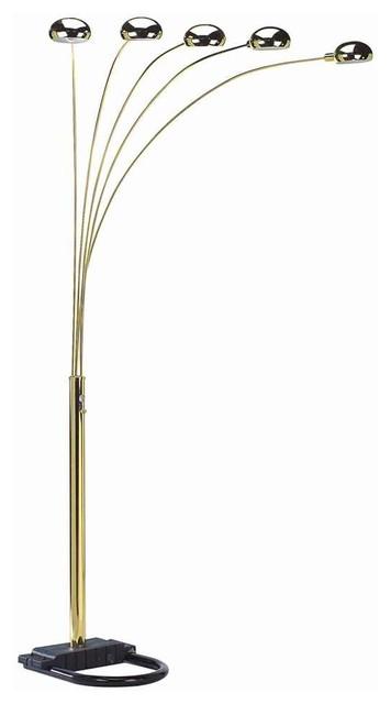 light arc floor lamp in gold floor lamps by shopladder. Black Bedroom Furniture Sets. Home Design Ideas