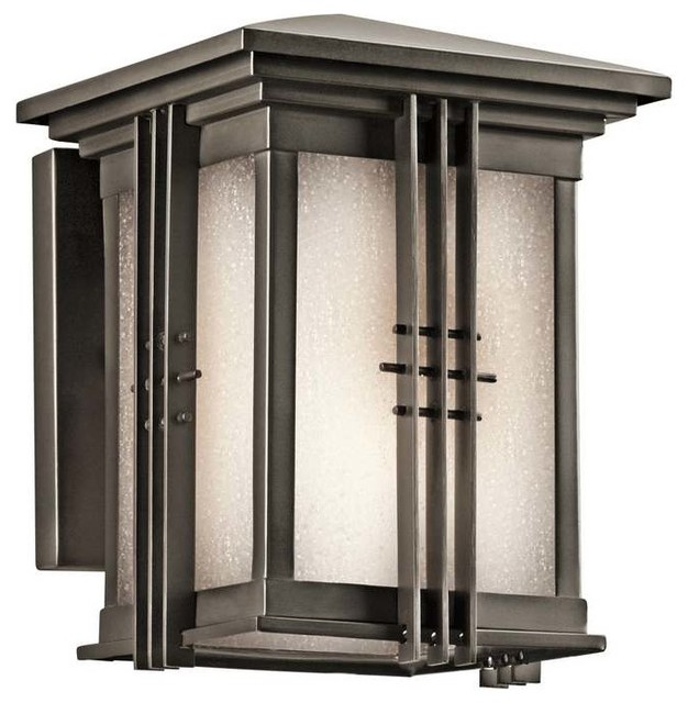 Kichler Portman Square Olde Bronze Outdoor Wall 1 Light Contemporary Outd