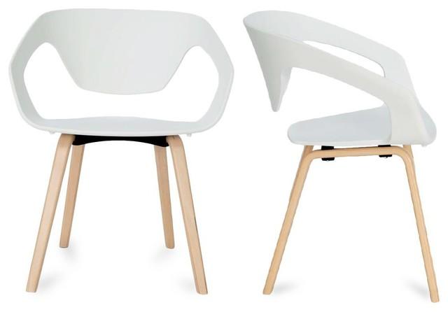 lot de 2 chaises design scandinave danwood couleur blanc scandinave fauteuil par. Black Bedroom Furniture Sets. Home Design Ideas