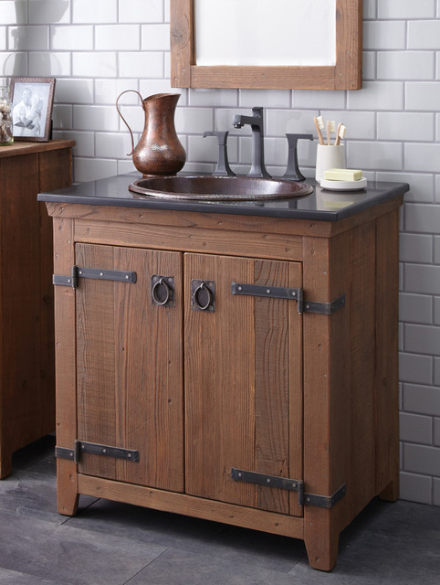 Native trails 30 americana vanity in chestnut farmhouse for Barn style kitchen sink