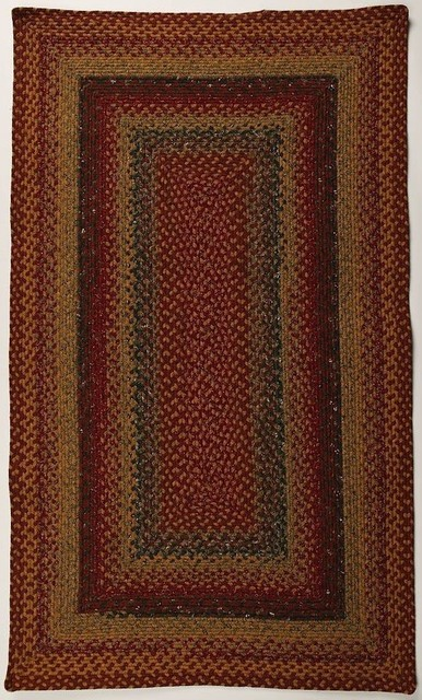 Four In Nine Patch Braided Rug