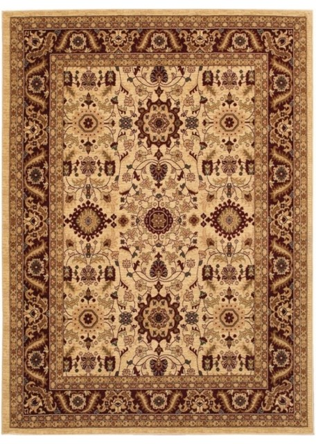 Anatolia cream red rug 20670009 traditional area for Cream and red rugs
