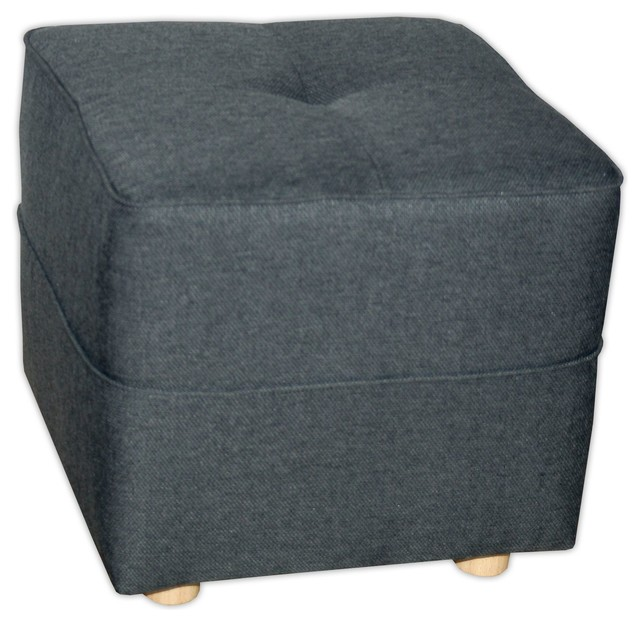 Vicky canap pouf gris anthracite contemporain repose for Pouf contemporain