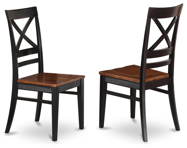 Set Of 2 Quincy Dining Room Chair With X Back In Black Cherry Finish
