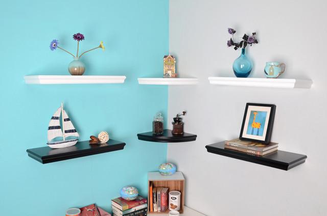 Trenton floating shelves corner shelving modern display and wall