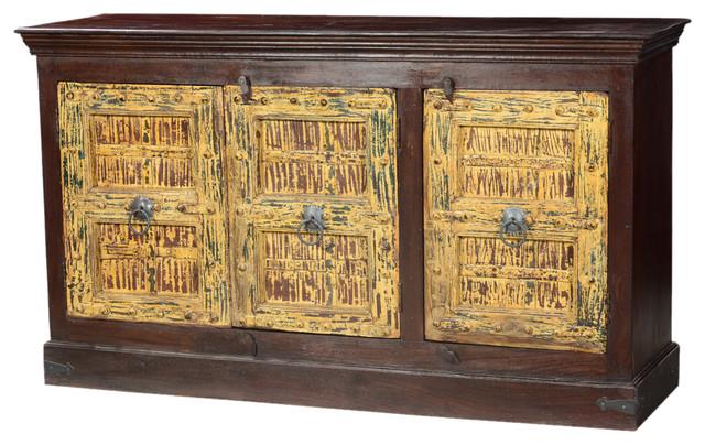 Sunshine Gothic Mango Reclaimed Wood Sideboard Cabinet