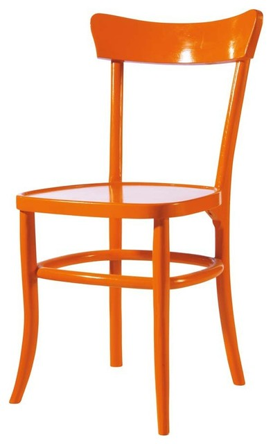 Orange Chair Bistrot Contemporary Dining Chairs By