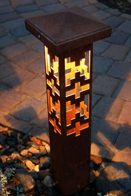 Decorative Steel Bollard Lights Contemporary Outdoor Lighting Indianapolis By Lite4