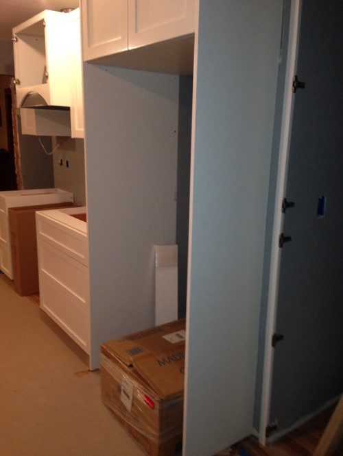 PLEASE HELP: 'Fridge flush with counter or upper cabinets?