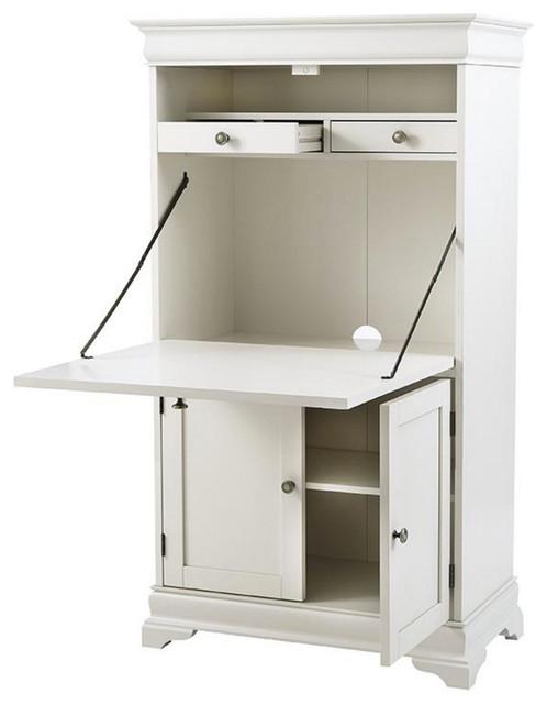 Louis Philippe Secretary Desk Polar White Desks And  : desks and hutches from www.houzz.com size 498 x 640 jpeg 39kB