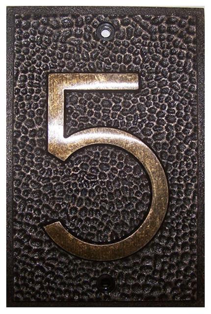 frank lloyd wright house numbers bronze finish 5 arts. Black Bedroom Furniture Sets. Home Design Ideas