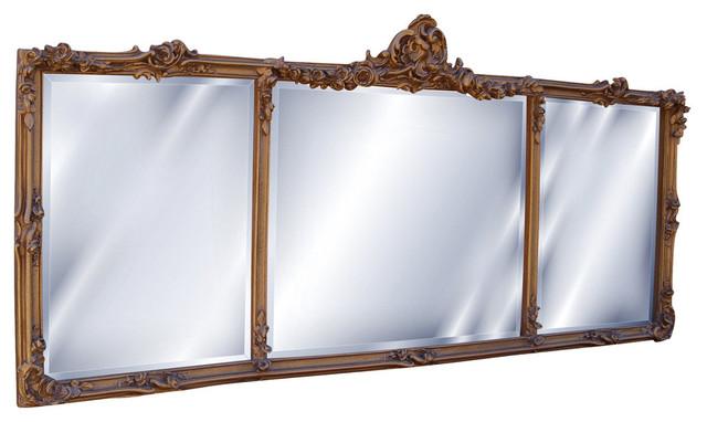 Georgian Mantel Mirror Antique Gold Victorian Wall