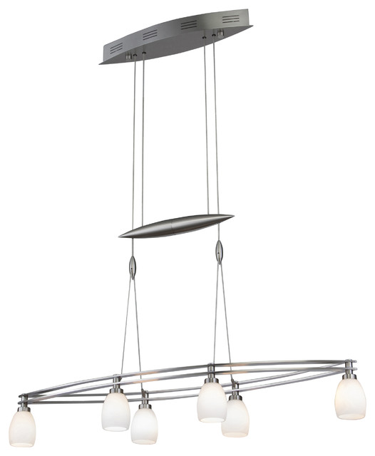 Low Voltage Outdoor Chandelier: Halogen Low-Voltage Contemporary Chandelier, 6-Light