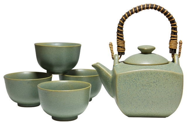 Stone Green Tea Set Asian Sets By Miya Company