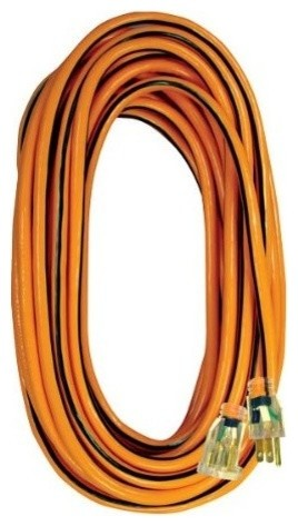 Voltec 05-00342 Orange 14/3 50' Electric Extension Cord - Contemporary - Extension Cords And ...