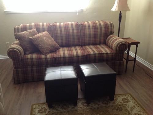 Family Room Plaid Sofa