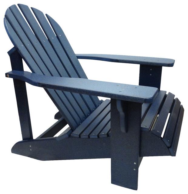Classic Poly Adirondack Chair, Deep Blue Contemporary Adirondack Stolar Av Andrew Jones