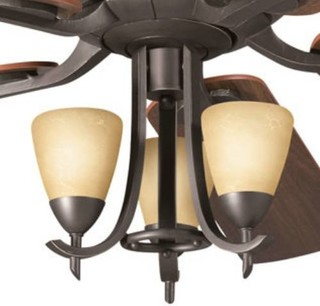 Kichler 380001OZW Olympia 3 Light Pendant Kit For Indoor Ceiling Fans 380001O