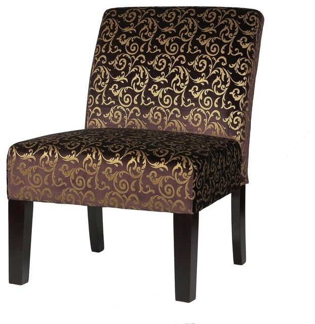 Cortesi Home Castano Armless Accent Chair Mediterranean Living Room Chair