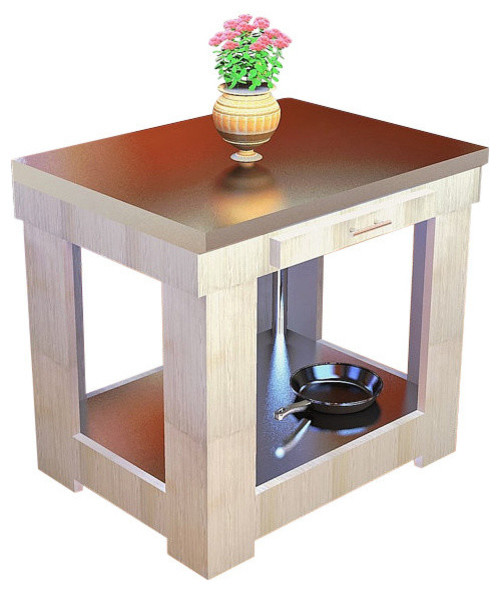 sleek solid spruce kitchen island stainless steel counter stainless steel carts with drawers foter