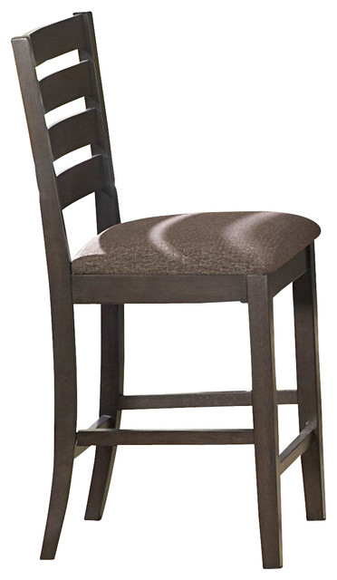 Counter Height Espresso Chairs : ... Counter Height Chair in Espresso and Brown traditional-bar-stools-and