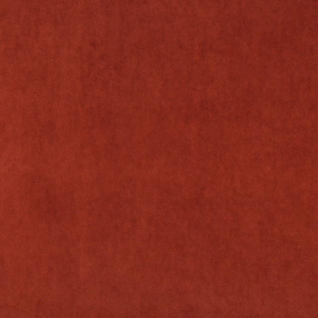 Rust Red Plush Elegant Cotton Velvet Upholstery Fabric By