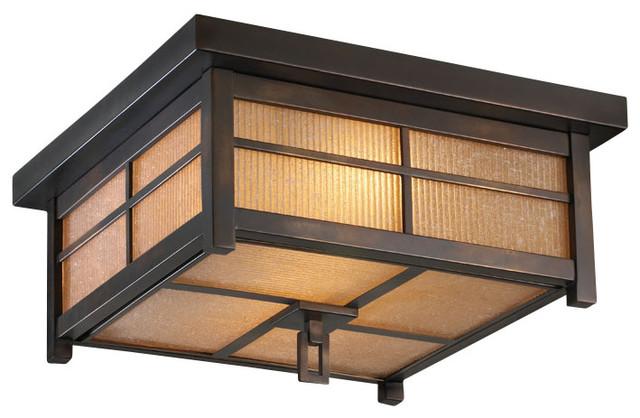 Fine art lamps capistrano outdoor flush mount 401080st - Plafones para exteriores ...