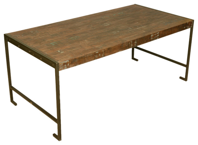 Philadelphia Modern Rustic Reclaimed Wood Industrial Dining Table Industria