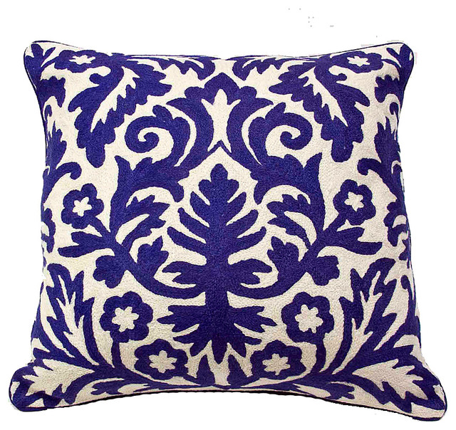Throw Pillows Malum : Moroccan Pillow, Royal Blue - Mediterranean - Decorative Pillows - by De-cor