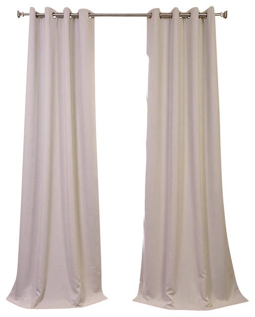 eggnog grommet blackout curtain single panel ivory 50