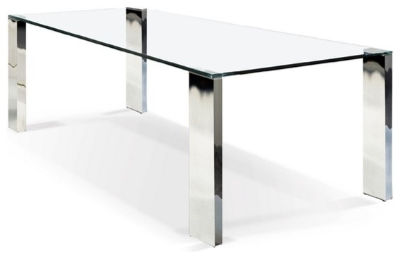 Rectangular Glass Top Dining Table Contemporary Dining Tables