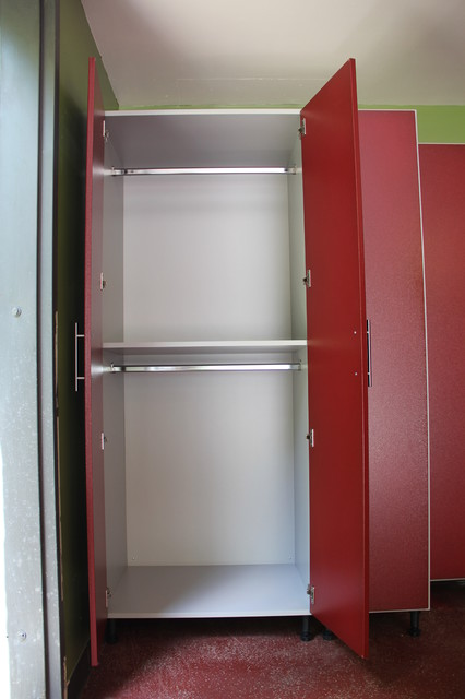 Redline Work Series Garage Cabinets, Slat Wall - other ...