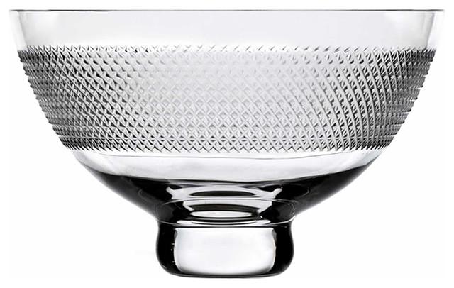 Vizner quot crystal centerpiece bowl contemporary